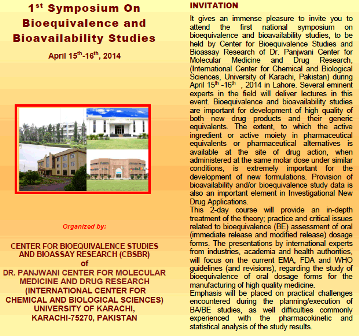 1st Symposium on Bioequivalence and Bioavailability Studies