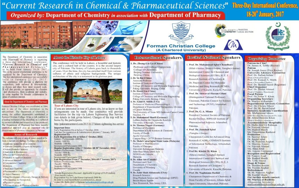 Current Research on Chemical and Pharmaceutical Sciences